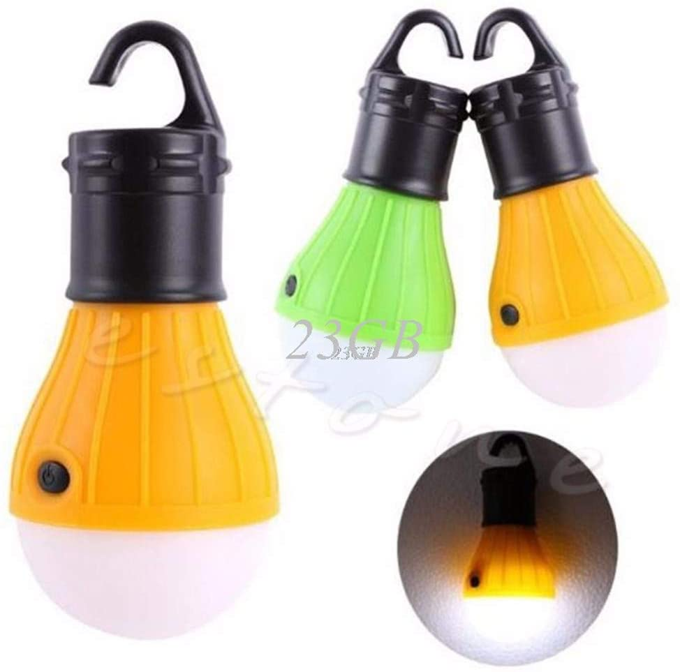 Camping Tent Light Fishing Lantern Lamp 3LED Portable Hanging Hook Outdoor Torch