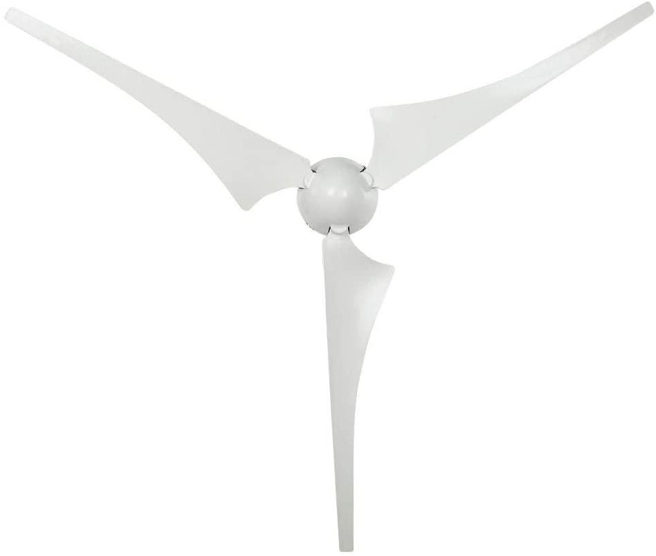 Focket Wind Turbine, NE-300S3 300W DC 12V/24V High Conversion Rate Wind Turbine Generator Kit 630mm 3 Blades Charge Controller Power Windmill High Utilization for Home Power Supplementation(12V)