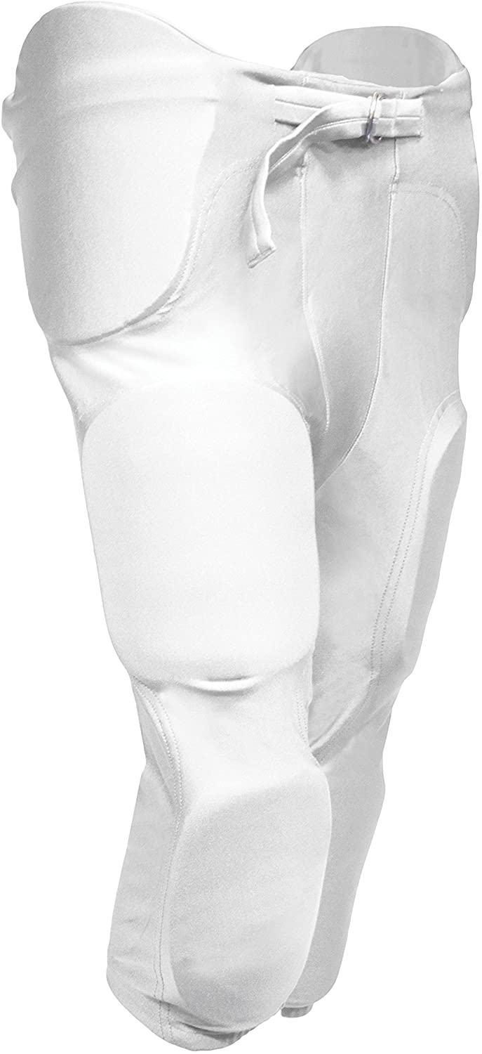 tag Youth Football Game Pant with Integrated Pads (X-Large) White (Waist 28
