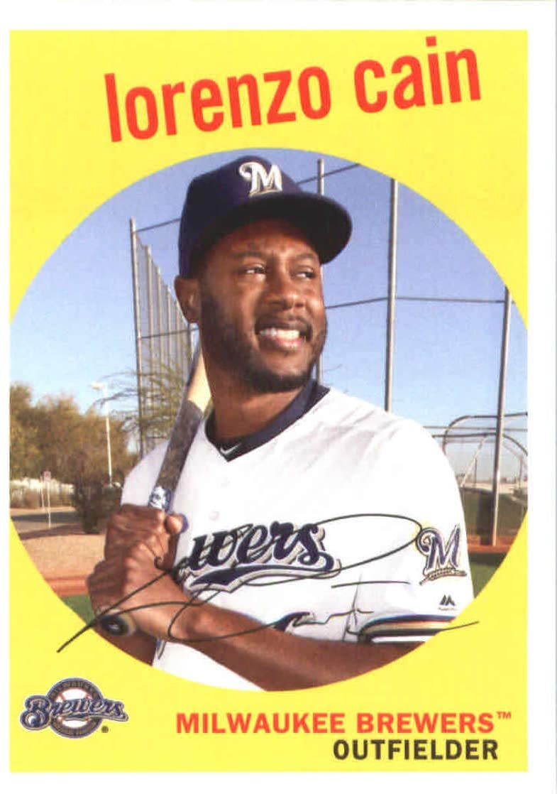 2018 Topps Archives #94 Lorenzo Cain Milwaukee Brewers Baseball Card