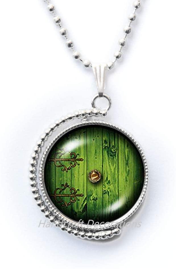 HandcraftDecorations Fairy Door Necklace,Fairy Jewelry,Fairy Necklace,Door Jewelry,Glass Jewelry Best Friend Necklace.F175