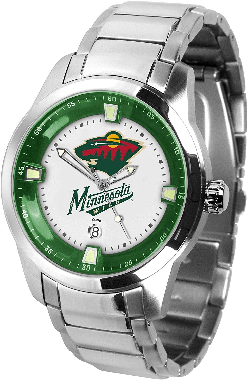 Game Time NHL Minnesota Wild Mens TitanWrist Watch, White, One Size