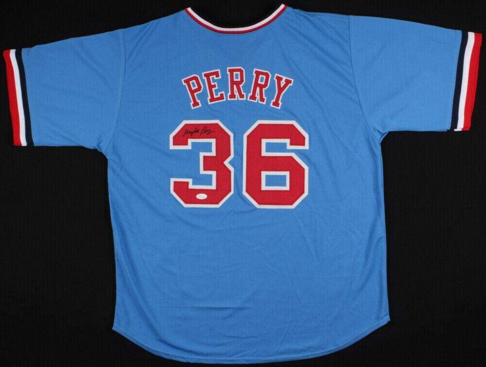 Gaylord Perry Signed Jersey - Custom) - Coa! - JSA Certified - Autographed MLB Jerseys