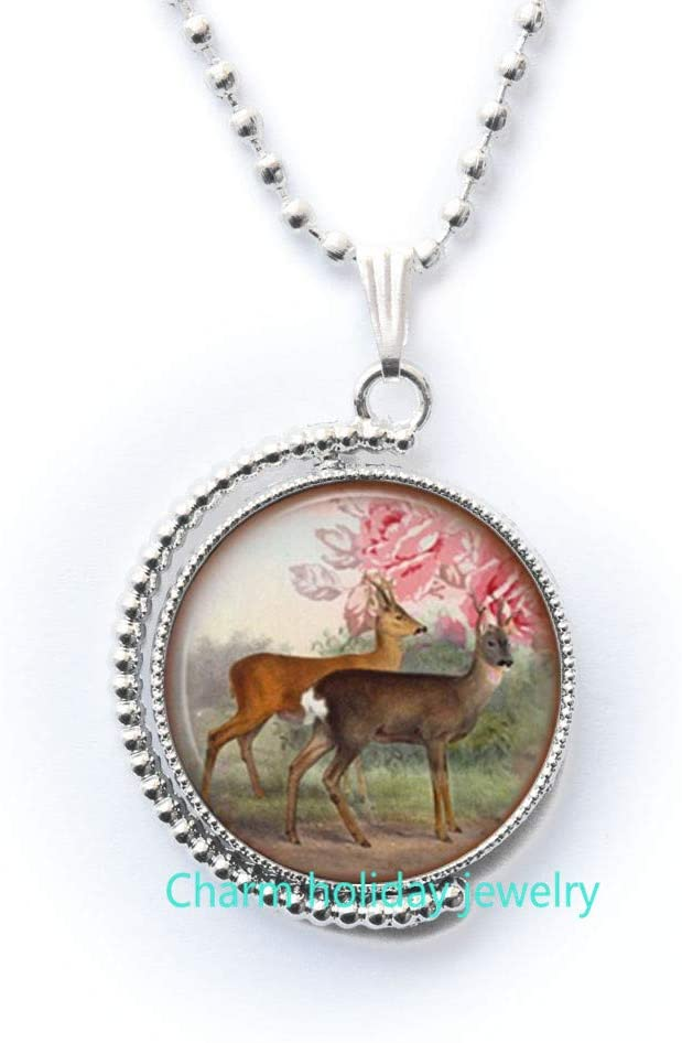 Deer Necklace,Gift for Women,Birthday Gift,Deer Necklace,Nature Necklace,Boho Jewelry,Deer Jewelry,Nature Jewelry-#400