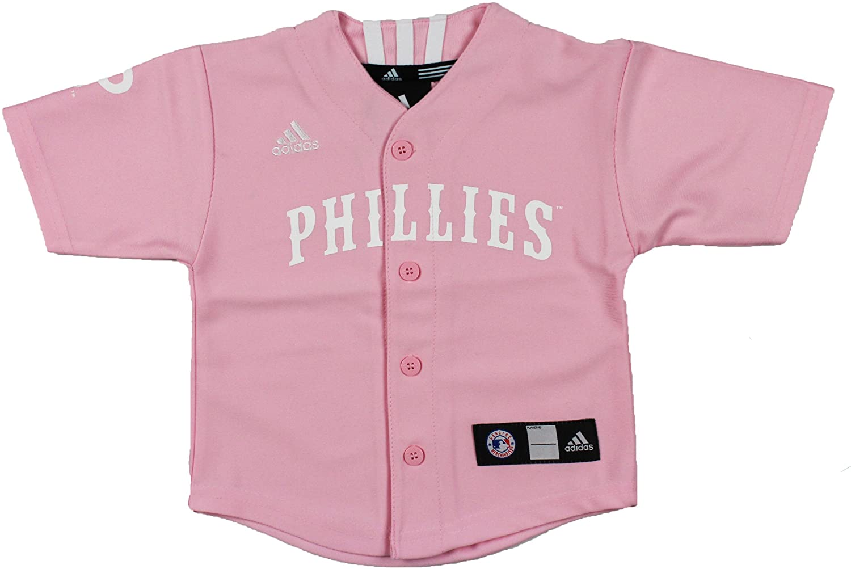 adidas MLB Philadelphia Phillies Girls Pink Jersey