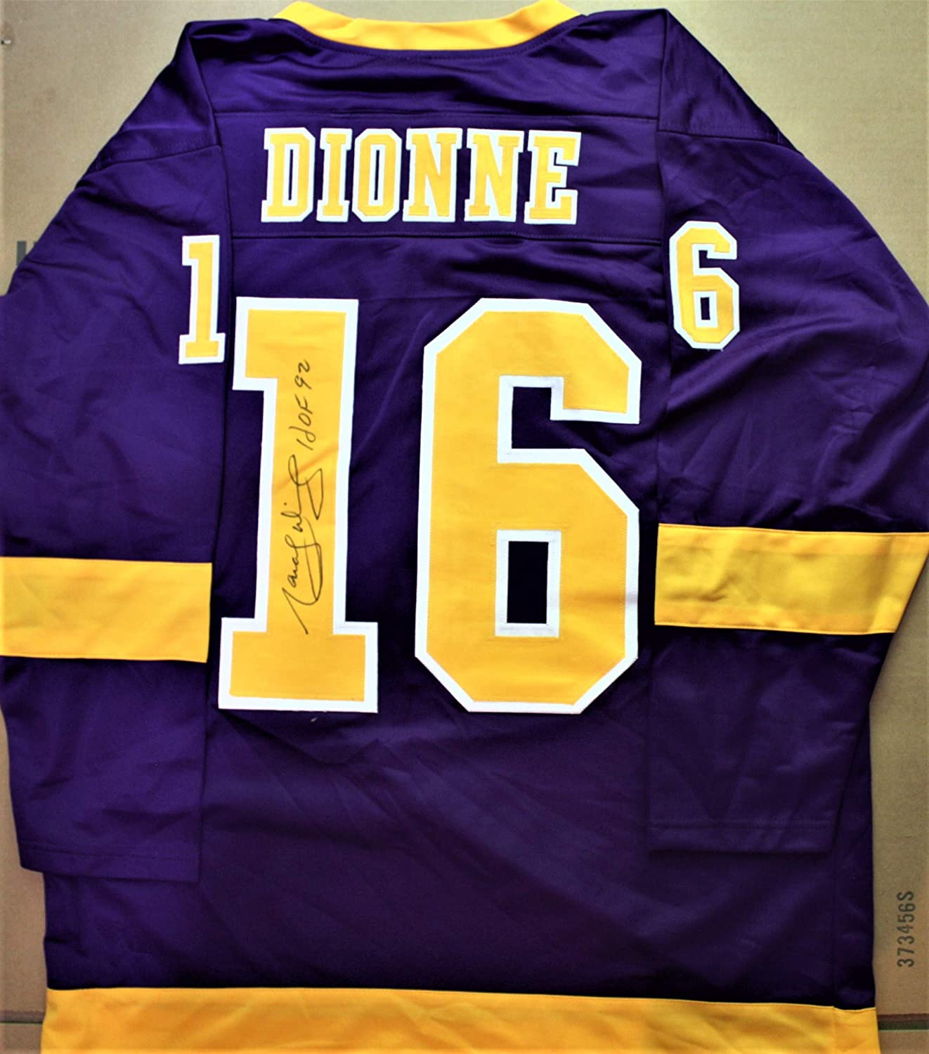Autographed Marcel Dionne Los Angeles Custom Jersey - with COA