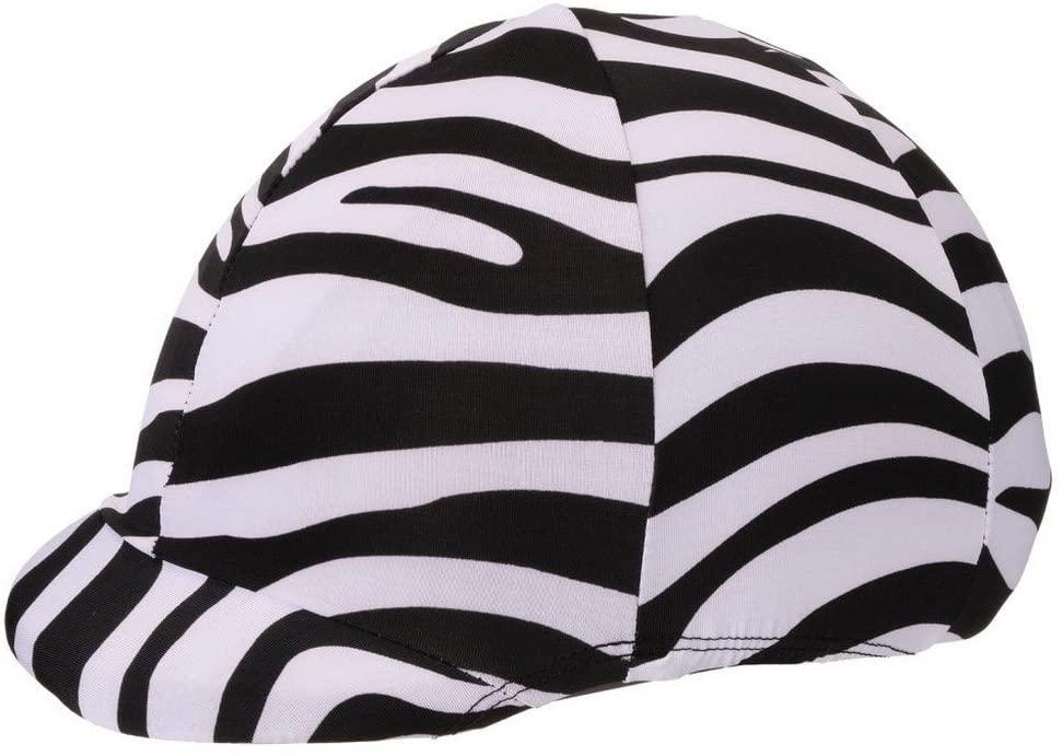 Tough-1 Lycra Helmet Cover Up - Zebra Prints