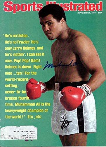 Muhammad Ali Autographed Sports Illustrated Magazine Gem Mint 10 Vintage #E50979 - PSA/DNA Certified