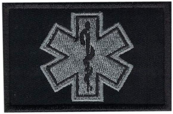 DREAM ARMY EMT Star of Life EMS EMT Rescue Morale Patch Hook Backing Gray Color