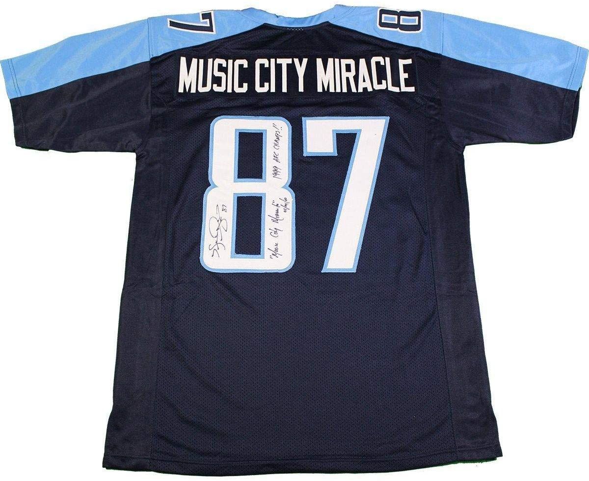 Kevin Dyson Signed Tennessee Titans Jersey w/