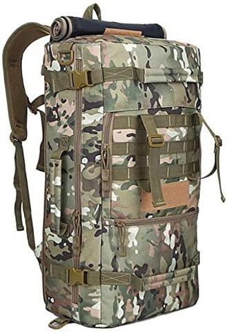 ZhaJunBag 50L Military Tactical Backpack Hiking Camping Daypack Shoulder Bag Men's Hiking Rucksack Back Pack
