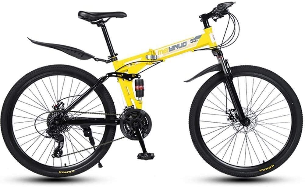 ZHANGZHANG Mountain Bike Road Bike Unisex Full Shockproof Front and Rear Mechanic 21/24/27speed 26