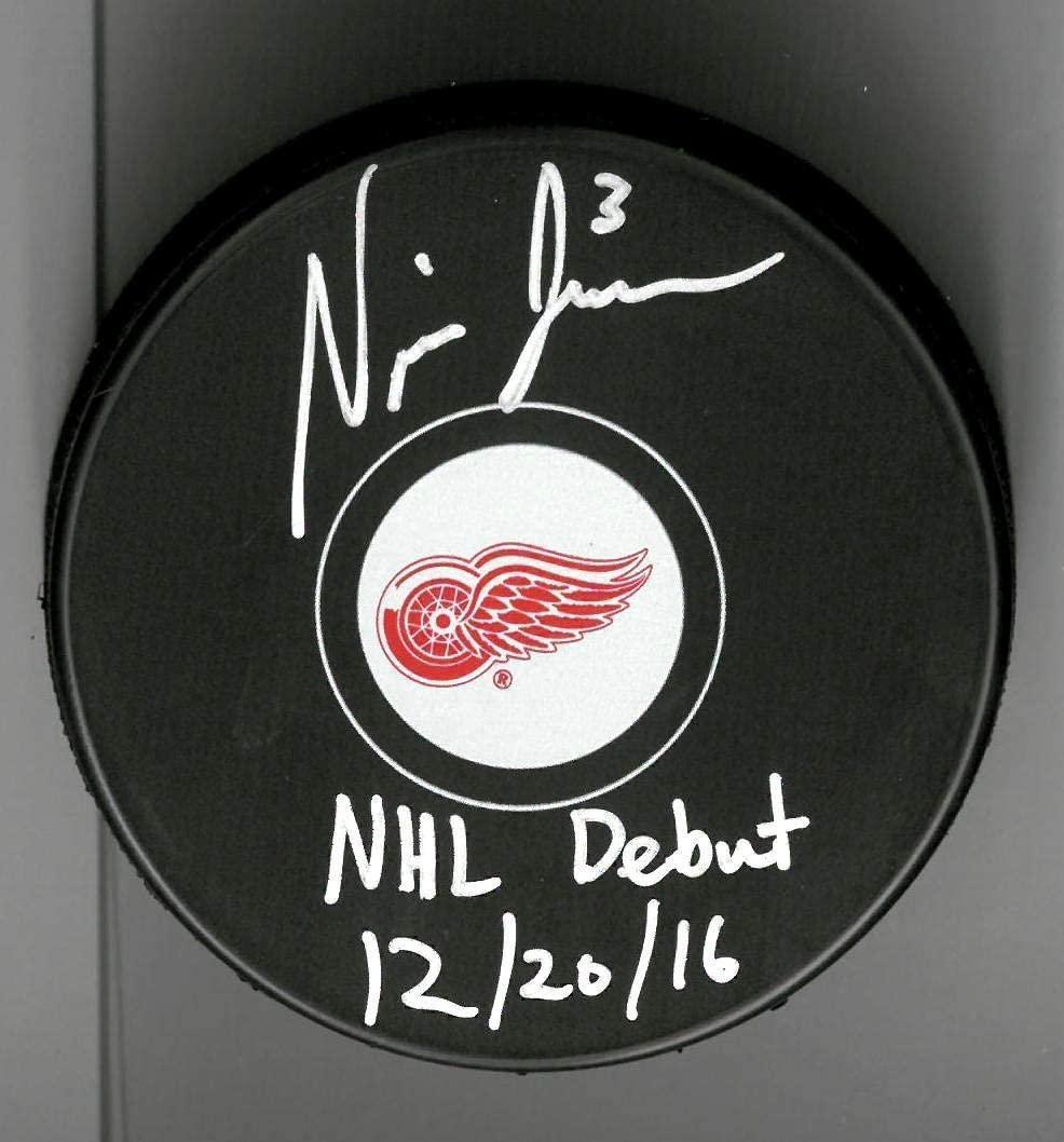 Nick Jensen Autographed Detroit Red Wings Souvenir Puck inscribed