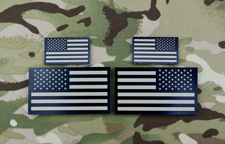 BritKitUSA Infrared US Flag Standard & Mini Full Patch Set - Tan & Black