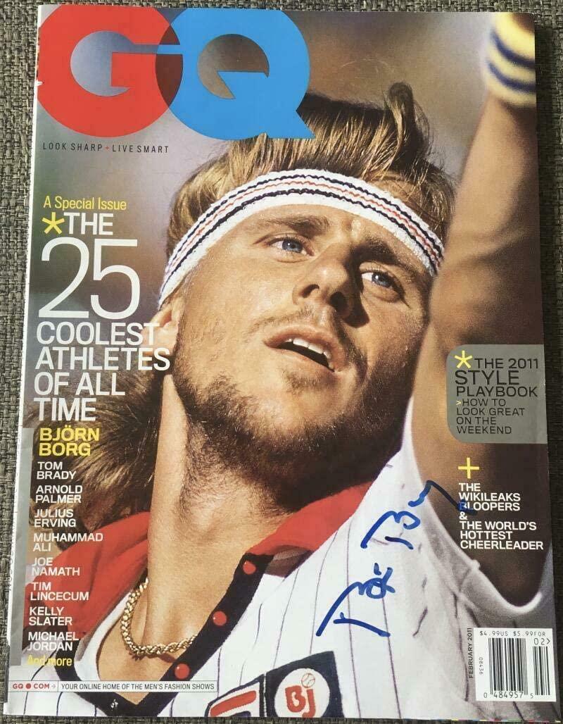 Bjorn Borg Signed Full Autographed Official Vintage Tennis Gq Magazine Coa - Autographed Tennis Magazines