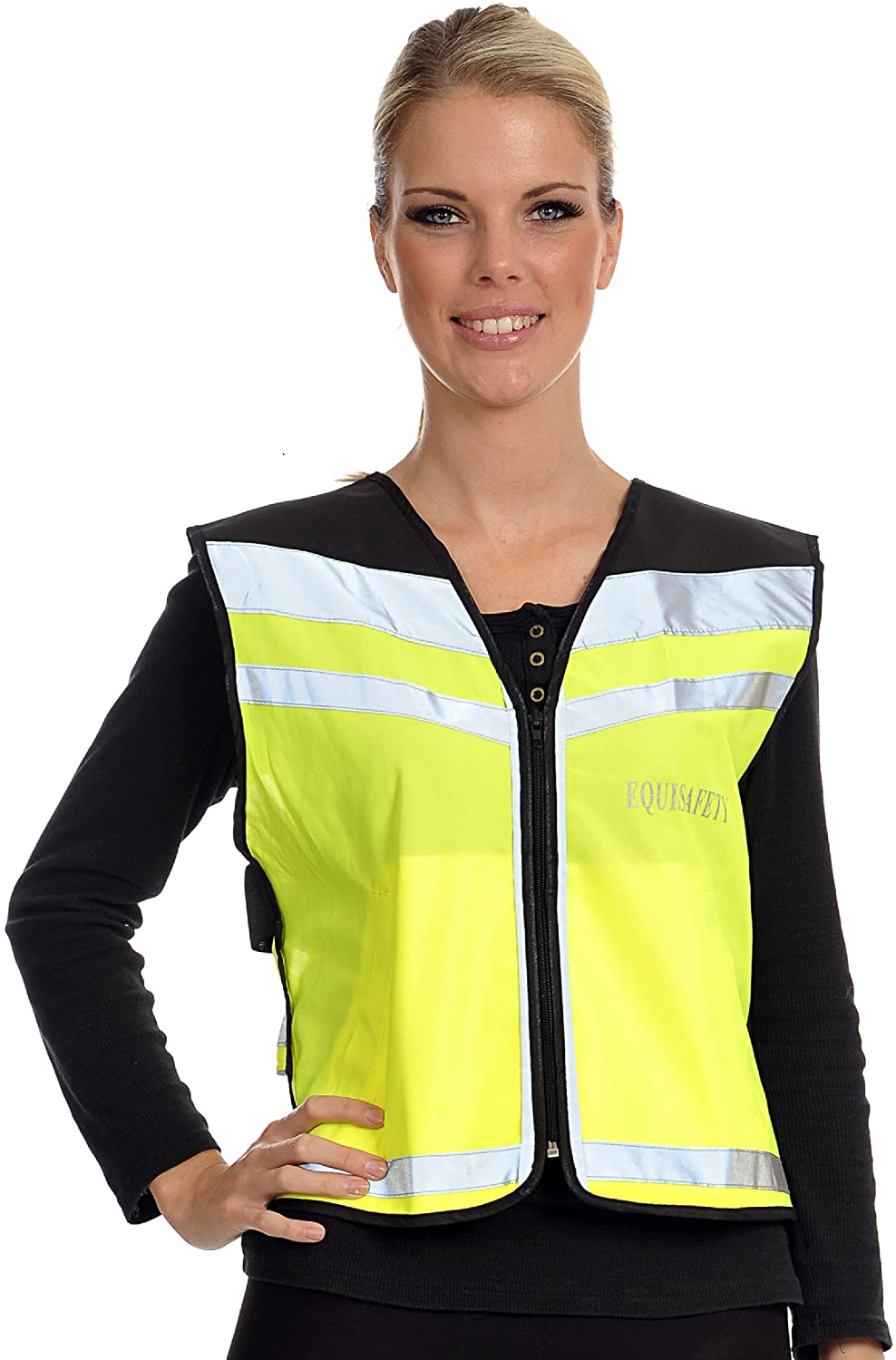 Equisafety Caution Young Horse Air Hi Vis Waistcoat