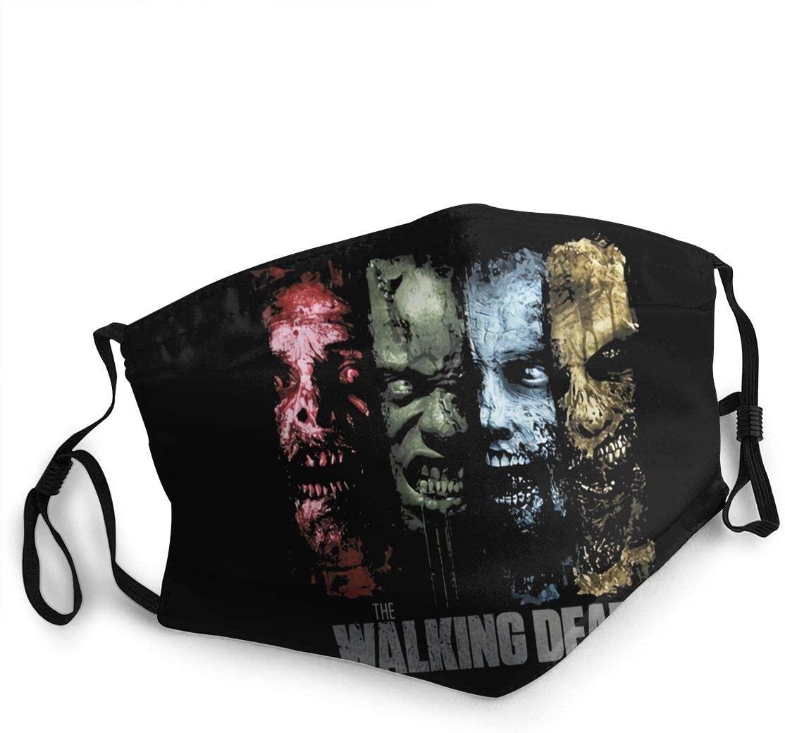 Wehoiweh The Walking Dead Adult Dustproof Windproof Scarf Headscarf Face Towel Headband Cold Sunscreen