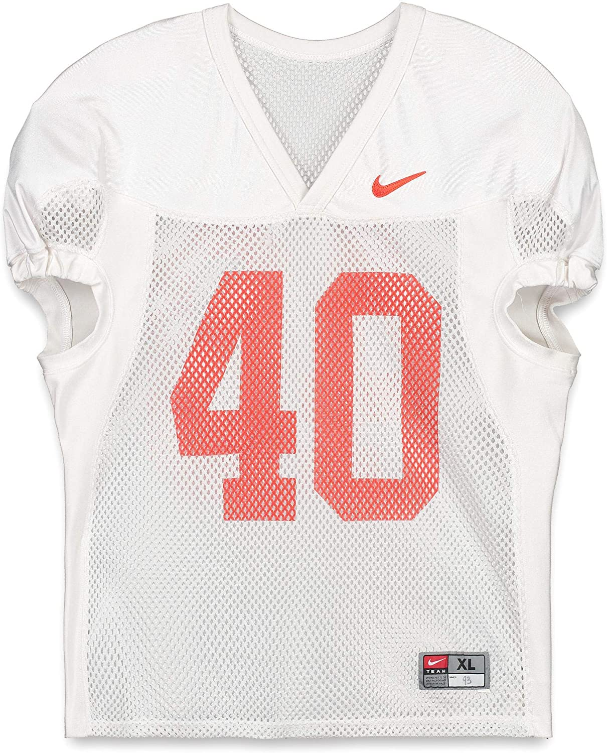 Clemson Tigers Practice-Used #40 White Jersey from the 2015-17 Football Seasons - Fanatics Authentic Certified