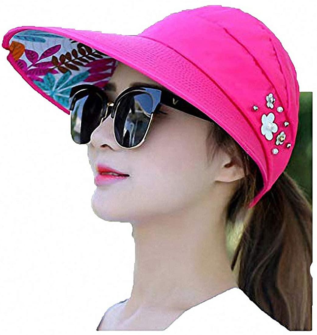 Women's Sun Visor Hats-Headband,Dual Purpose Summer Beach Visor Cap hat