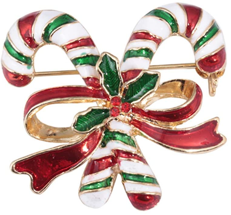 Holibanna Xmas Brooch Bow Crystal Rhinestone Brooch Breastpin for Ladies Women Jewelry Clothing Accesories Gift