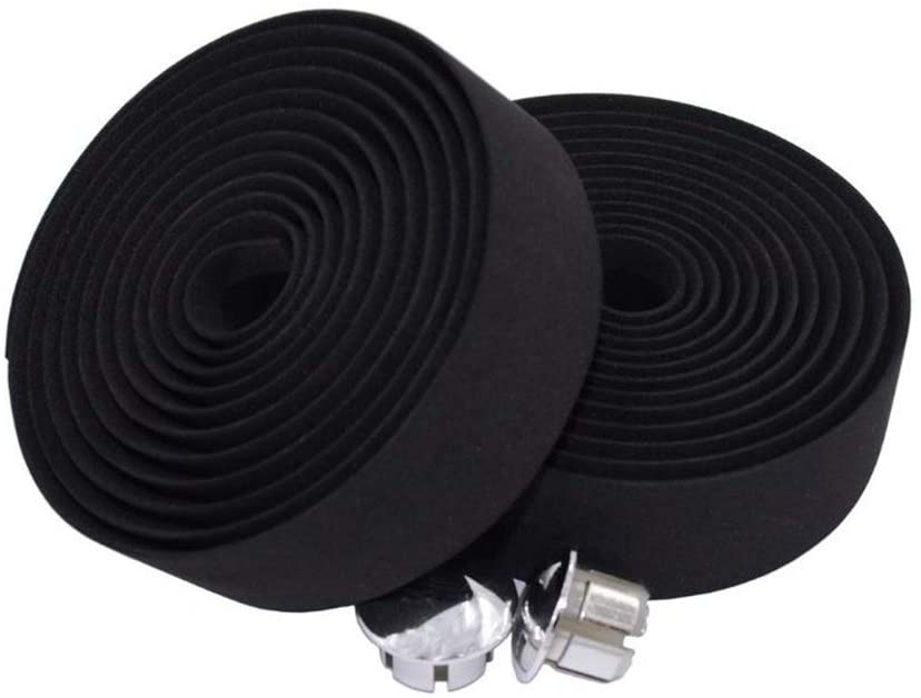 ABSOAR Cycling Road Bike Handlebar Tape, Bicycle Bar Tape Handle Wrap 2PCS w/Plugs, Non-Adhesive