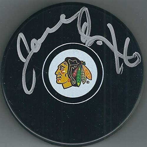 Joel Quenneville Autographed Hockey Puck - Chicago Blackhawks - Autographed NHL Pucks