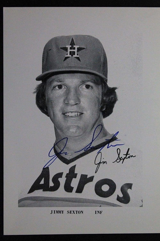 Jimmy Sexton Houston Astros (d.1977) Autographed 3x5 Signed Postcard - MLB Cut Signatures