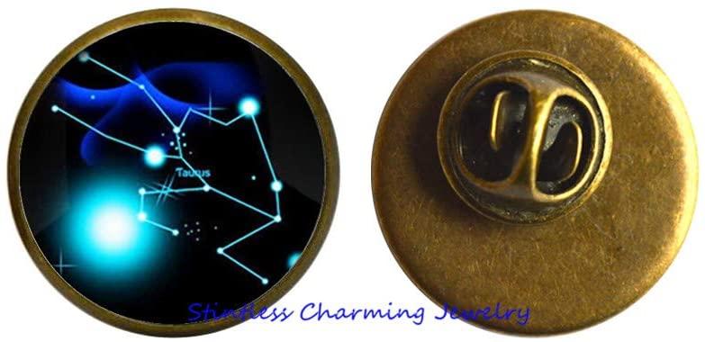 Taurus Brooch, Taurus Jewelry, Taurus Gift, Taurus Birthday,Celestial Jewelry Zodiac Jewelry.-JV13