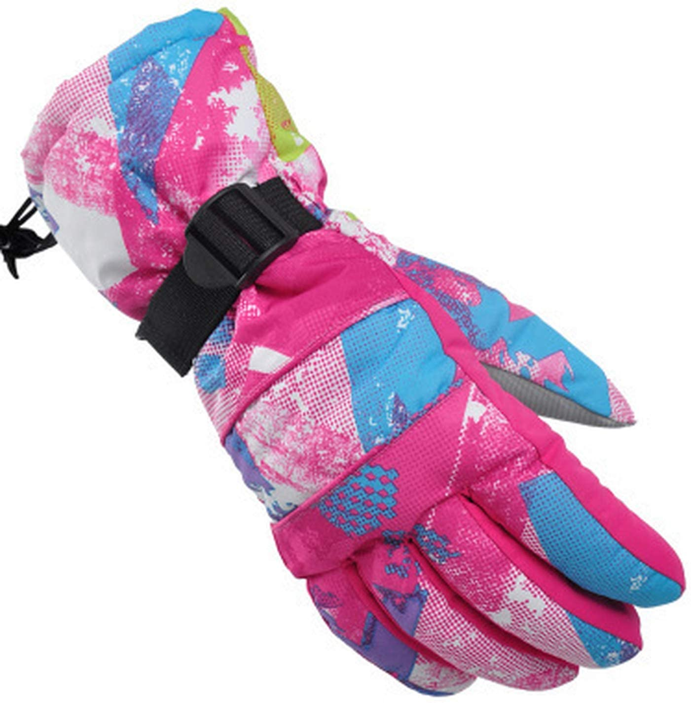 YR5V4V Snowboard Ski Gloves Unisex Windproof Waterproof Teens Breathable Warm Skiing Cycling Snow Women Men Glove Skiing Gloves,NO.8,L