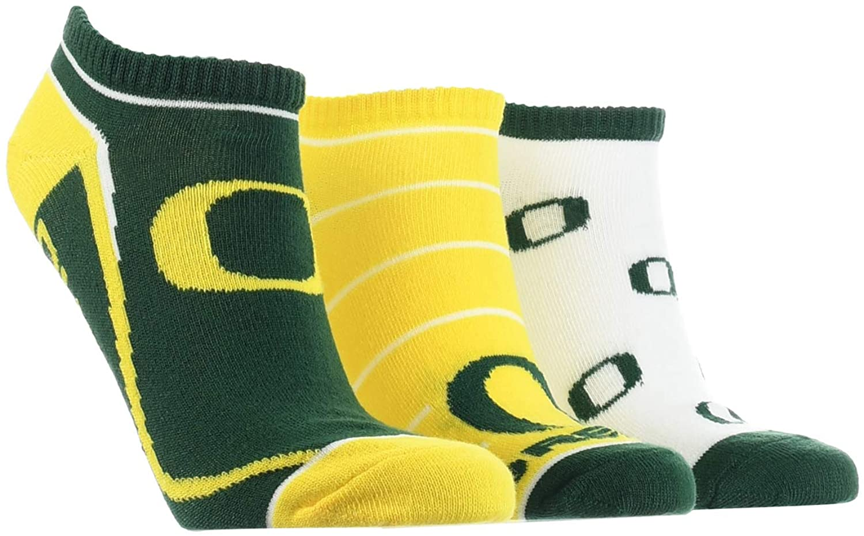 TCK Oregon Ducks No Show Socks Full Field 3 Pack
