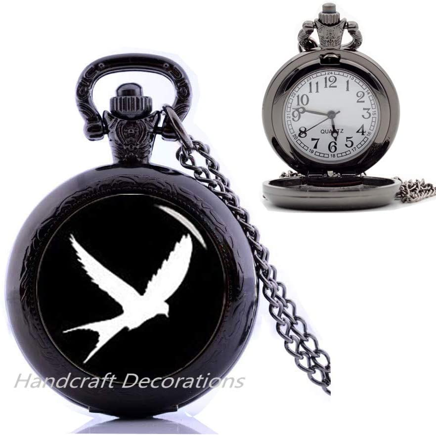 HandcraftDecorations Eagle Pendant Eagle Jewelry Eagle Pocket Watch Necklace Jewelry for Men,Animal Jewellery,Animal Lover Gift.F073