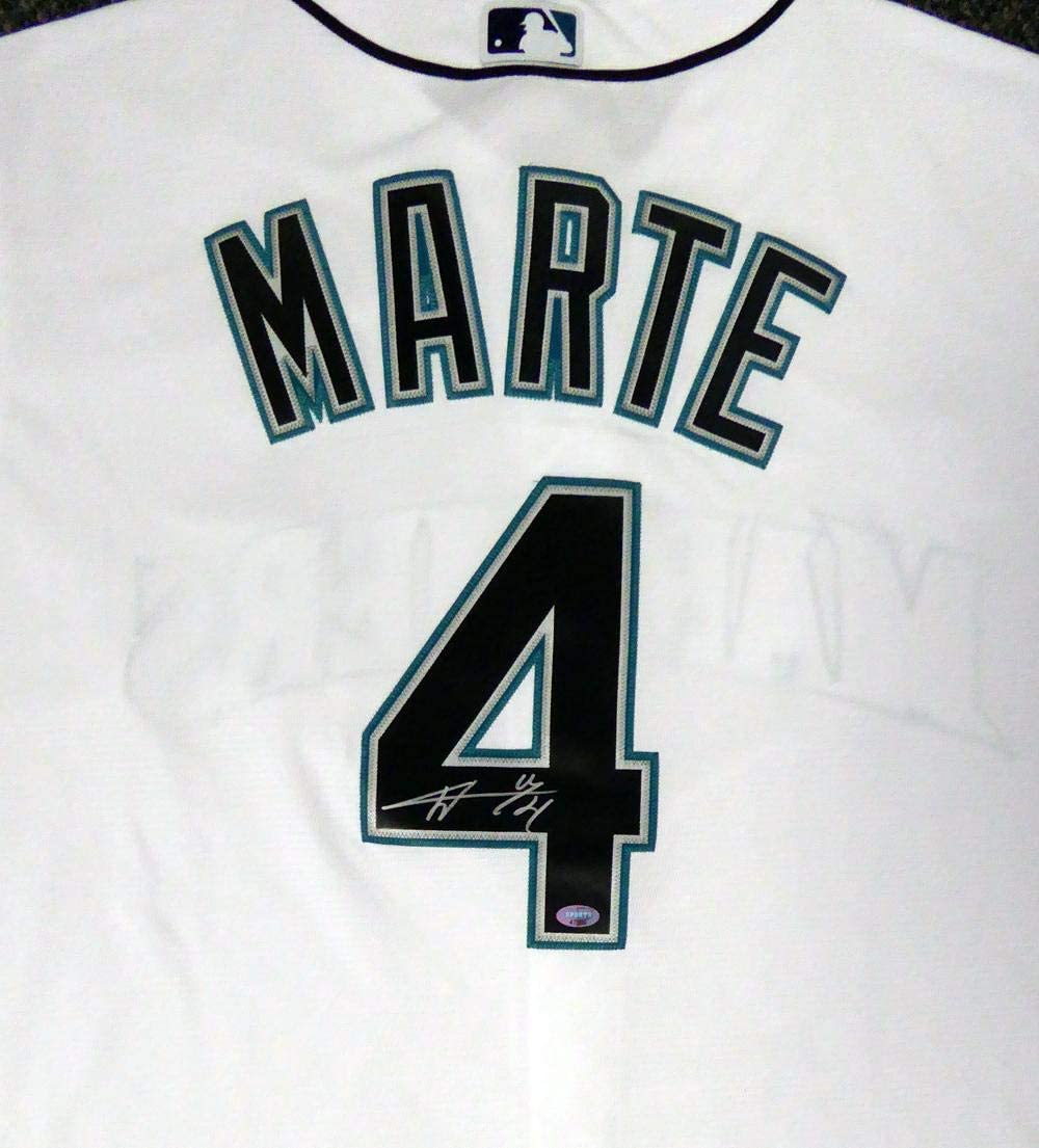 Ketel Marte Signed Jersey - White Majestic Cool Base Size XL MCS Holo Stock #105036 - Autographed MLB Jerseys