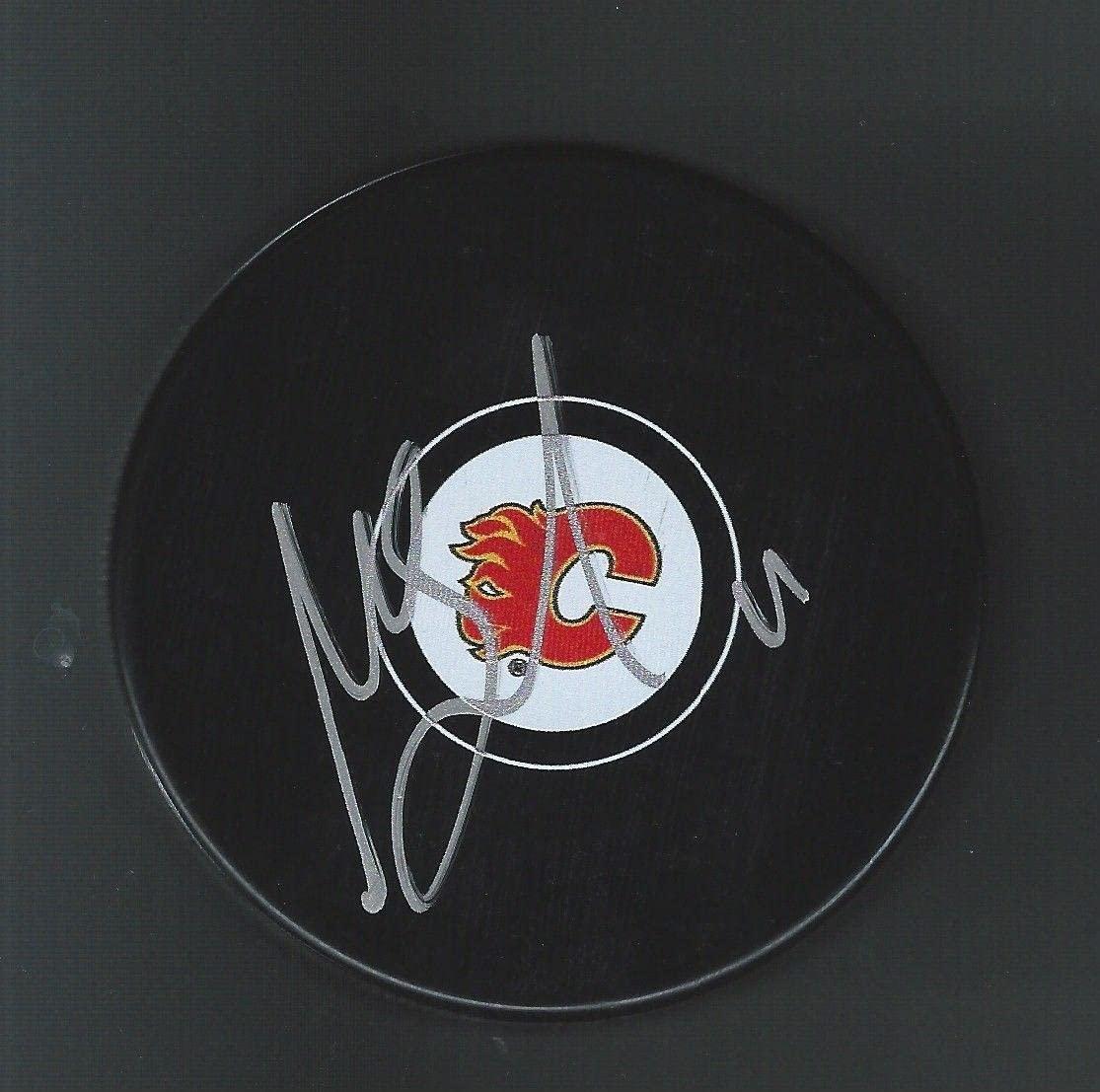Mikael Backlund Autographed Puck - Autographed NHL Pucks