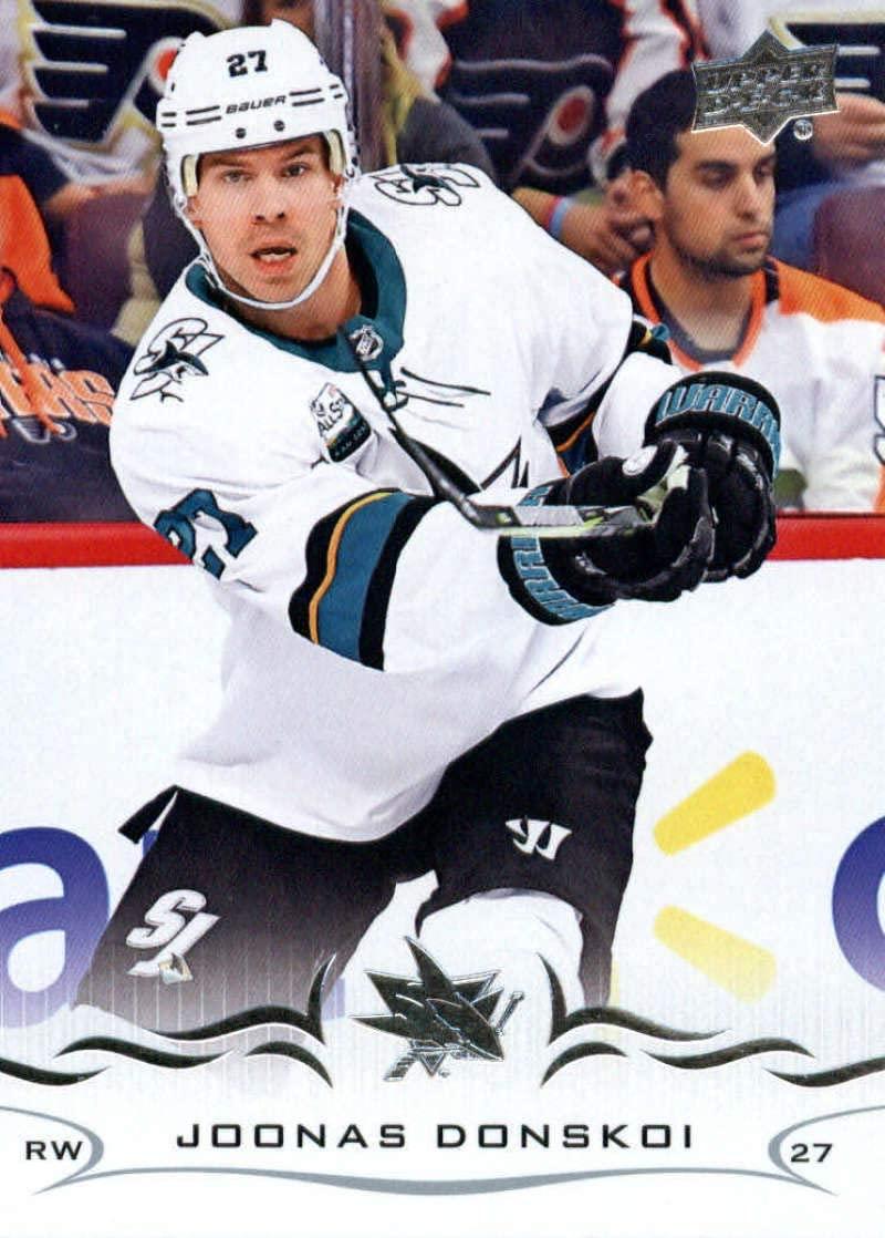 2018-19 Upper Deck #404 Joonas Donskoi Mint Hockey NHL Sharks