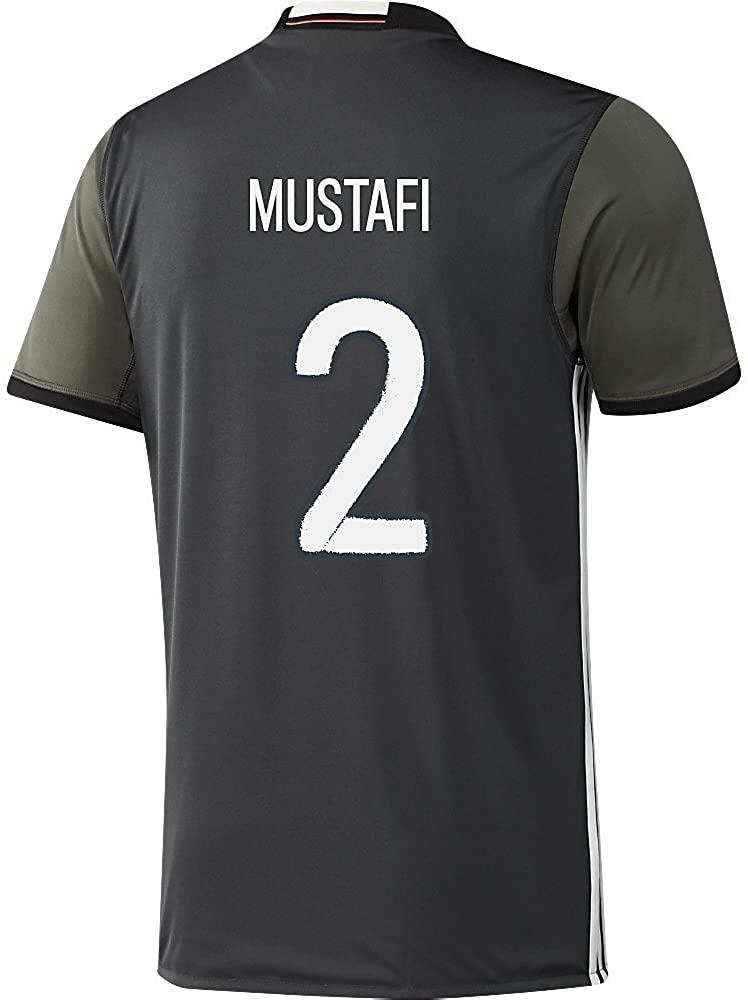 adidas Mustafi #2 Germany Away Soccer Jersey Euro 2016