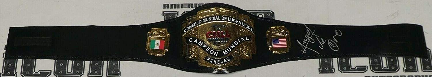 Angel de Oro Signed CMLL Lucha Libre Toy Belt BAS Beckett COA Chavez Autograph - Beckett Authentication