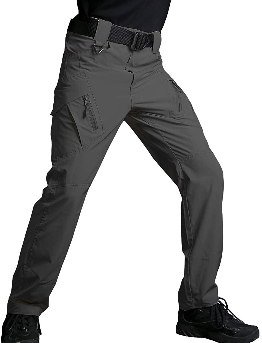 ReFire Gear Men's Quick Dry Tactical Pants Summer Lightweight Outdoor Hiking Cargo Trousers