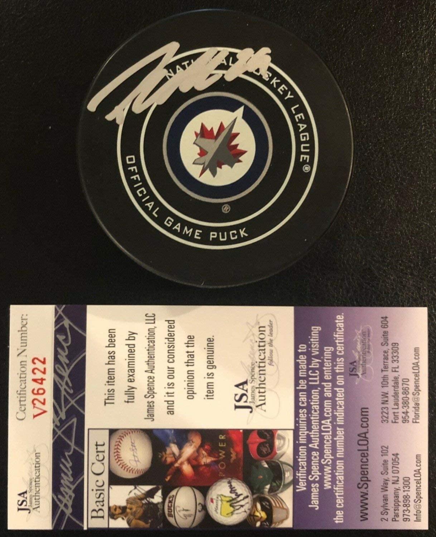 Patrik Laine Autographed Signed Winnipeg Jets Official Game Puck Signed JSA Autographed