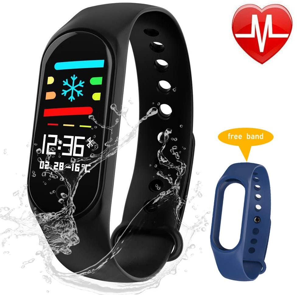 AOBBY Fitness Tracker, Color Screen Activity Tracker with Heart Rate Monitor Watch, IP67 Waterproof Smart Wristband with Calorie Counter Watch Pedometer Sleep Monitor for Kids Women Men