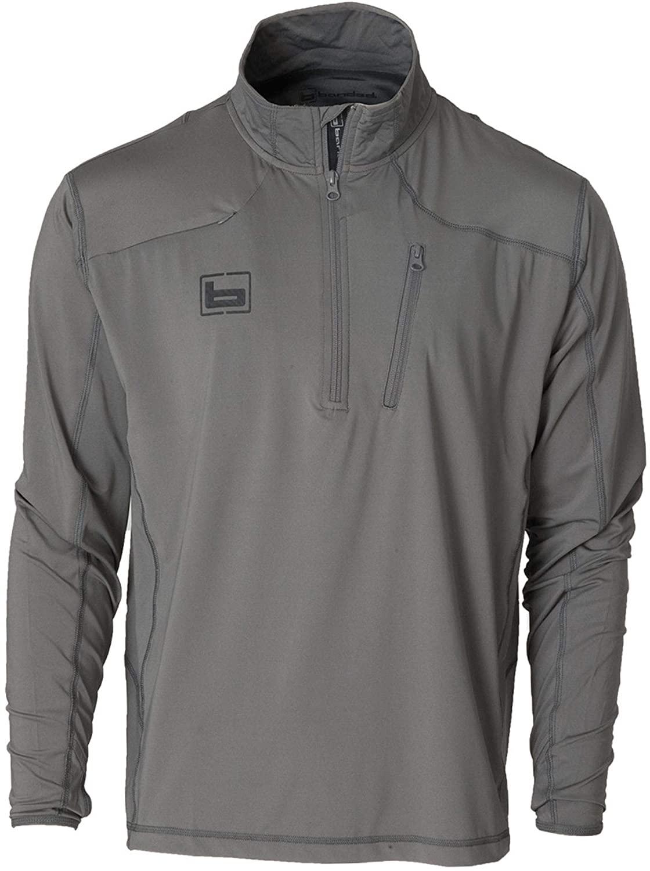 Banded Tech Stalker 1/4 Zip Pullover-Grey-2XL