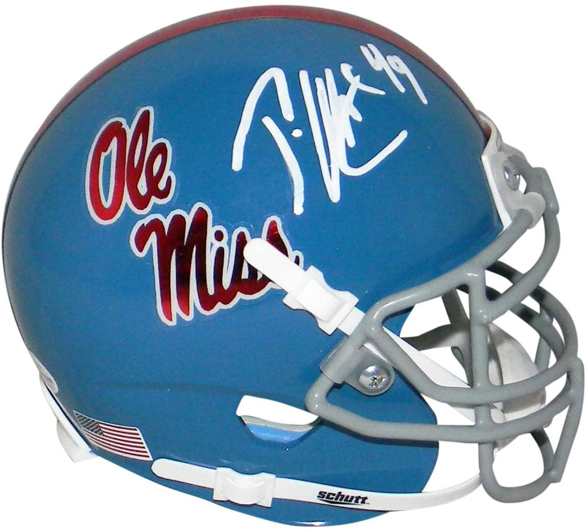 Patrick Willis Autographed Ole Miss Mississippi Rebels Mini Helmet Beckett - Beckett Authentication - Autographed College Mini Helmets