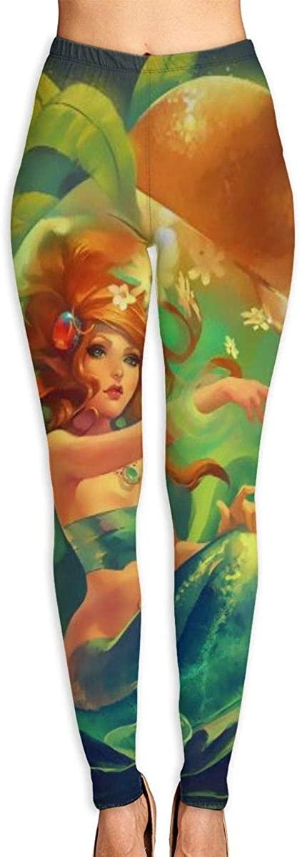 Lady Yoga Pants Leggings Imprisoned Mermaid Running Workout Fitness Long Trousers Shapewear Gym