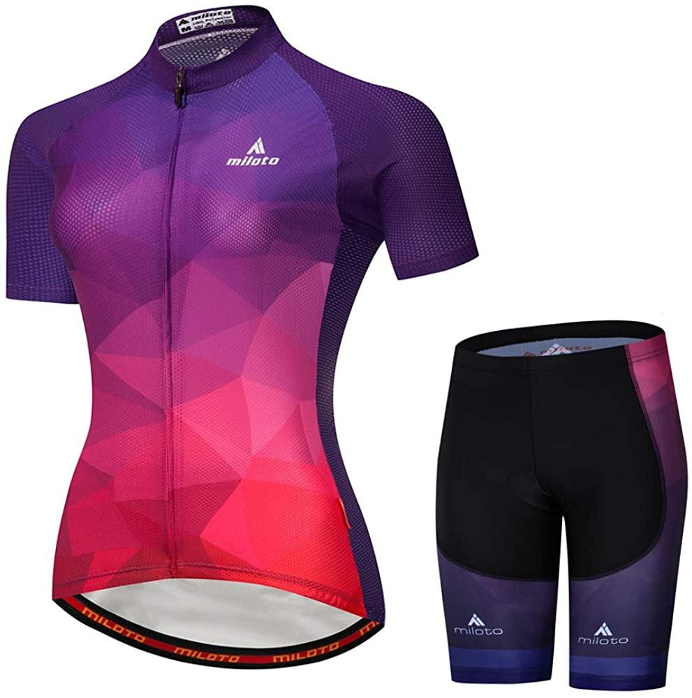 MILOTO Women Biking Clothing Bicycle Jacket Cycling Jerseys Team Bike Shirts