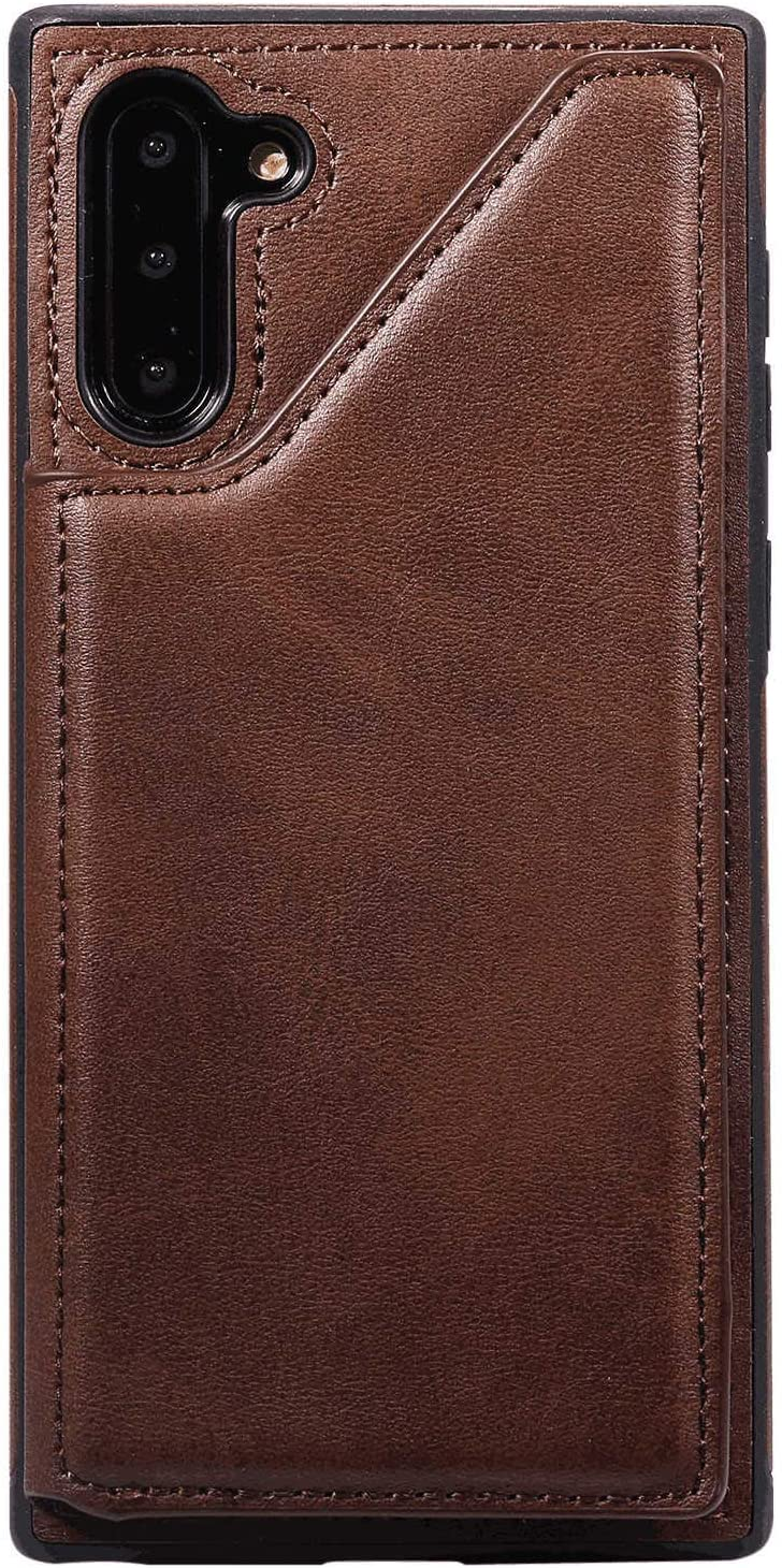 Samsung Galaxy S10 Plus Flip Case, Cover for Leather Extra-Protective Business Card Holders Wallet case Kickstand Flip Cover