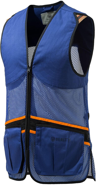 Beretta Full Mesh Shooters Vest, Color Blue, Small