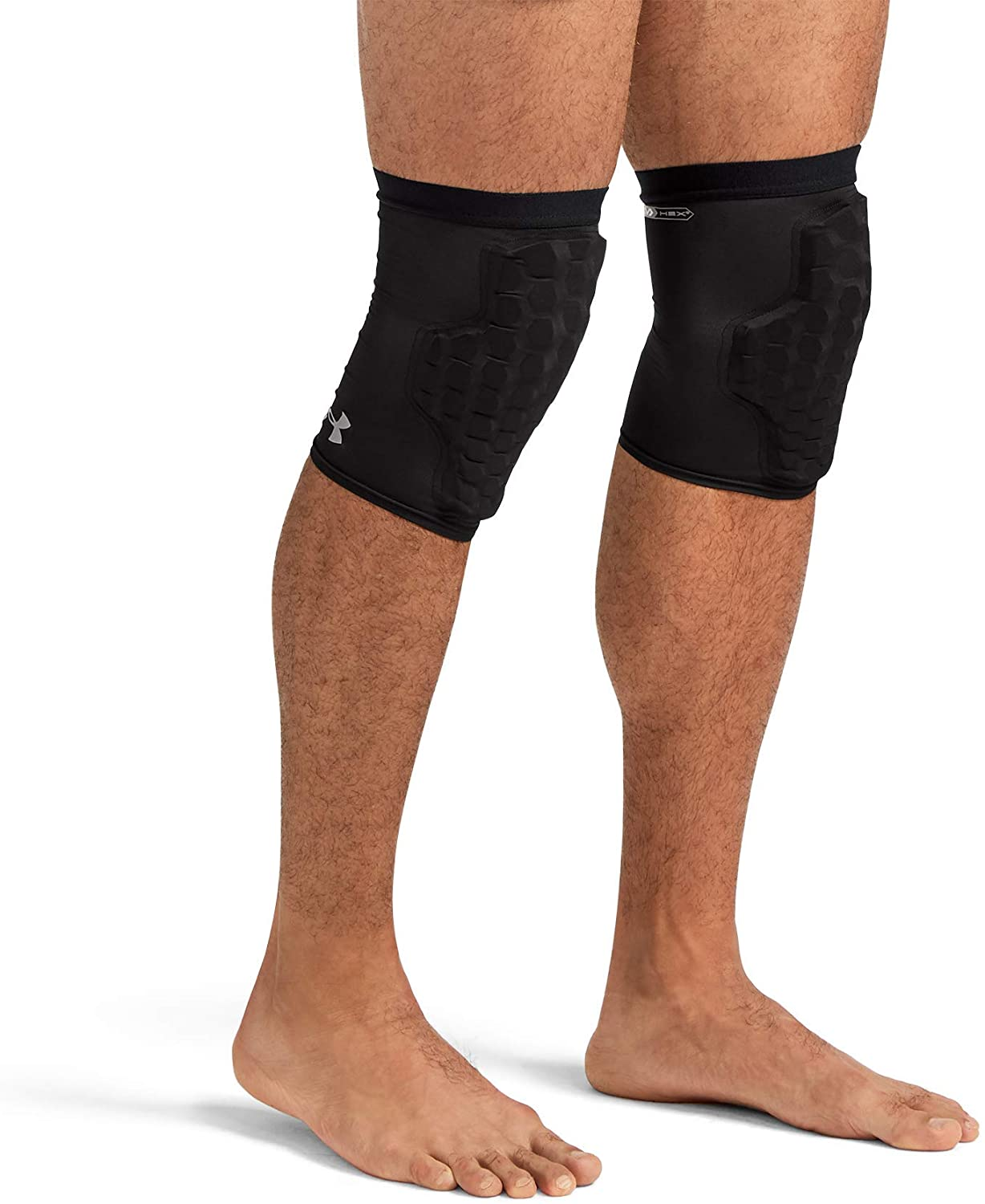 Under Armour Elbow / Knee / Shin Sleeve with Pads. Multipurpose Compression and HEX Padding for Protection. Active Wear for Basketball, Football, Tennis, & Weightlifting (1 Pair) Coderas de Proteccion
