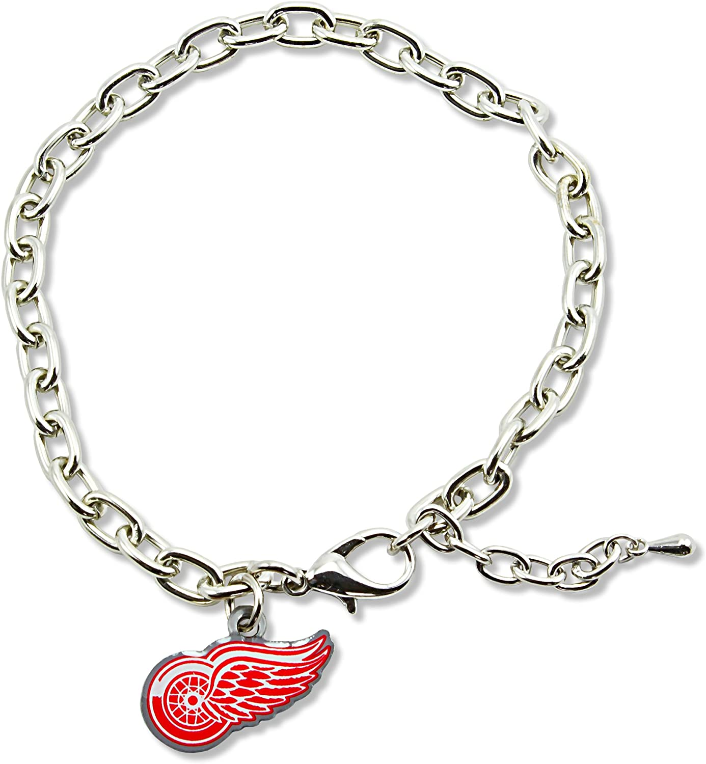 NHL Detroit Red Wings Logo Bracelet