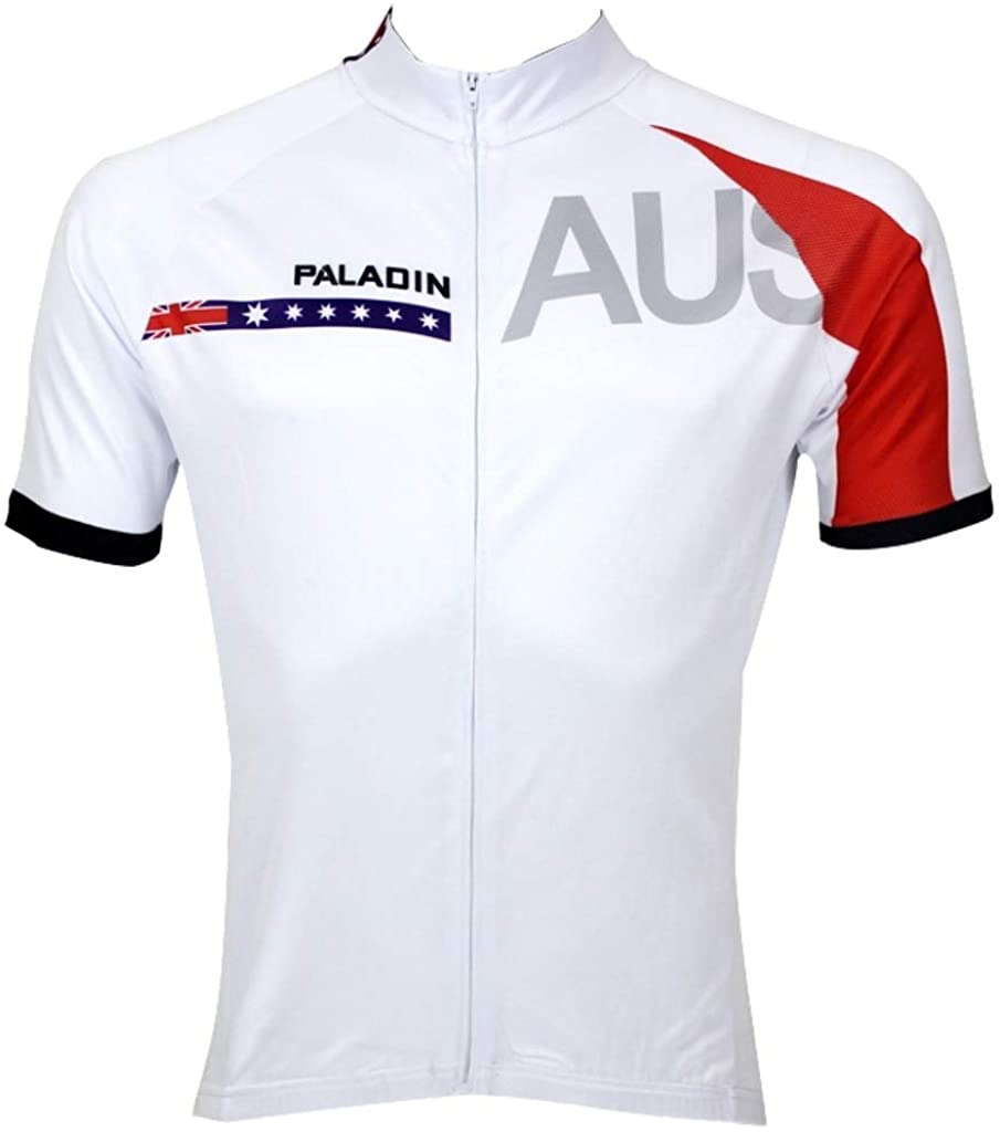 Paladinsport Men's Australia Polyester Quick Dry Short Sleeve Cycling Jerseys Size XXXXXL
