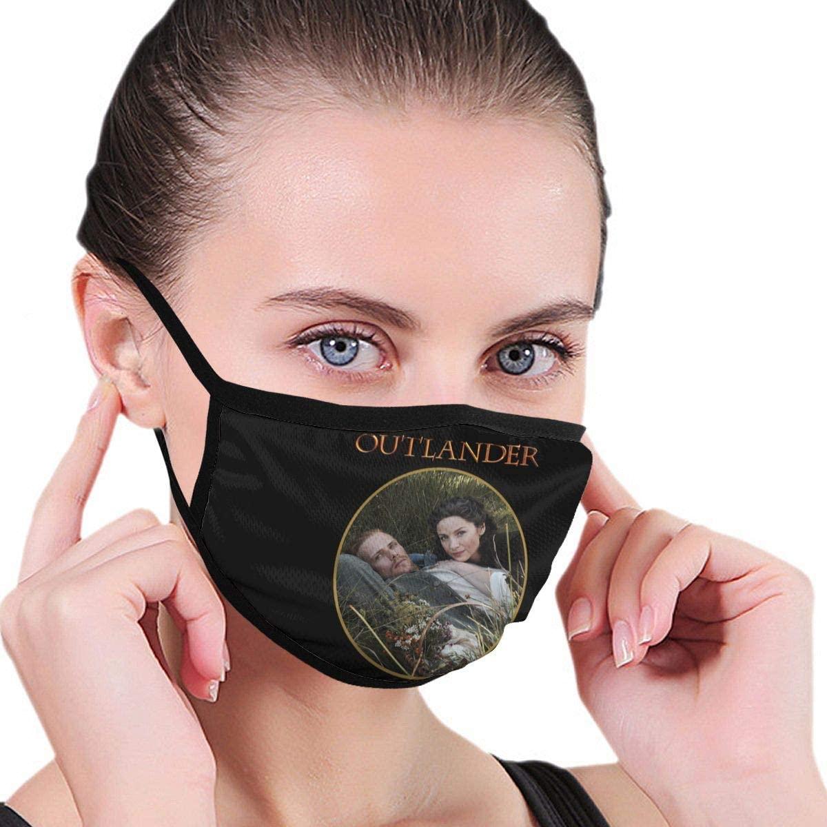 Qwtykeertyi Outlander Fashion Protective Reusable Unisex Black Cotton Washable Balaclava