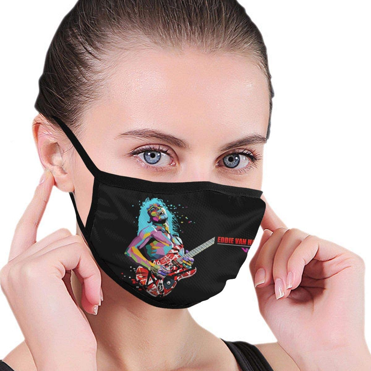 Wehoiweh Van Halen Dust Prevention Face Cover Mouth Cover Bandana Cool Lightweight